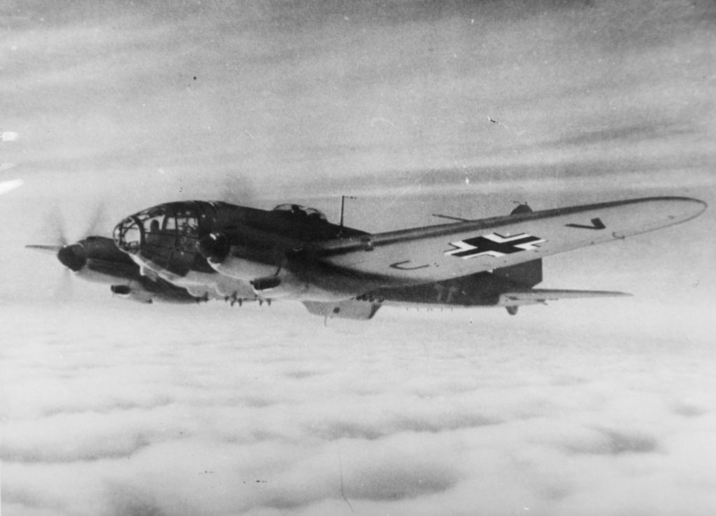 The Heinkel 111 bomber, one of the mainstays of the Luftwaffe