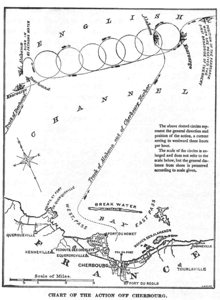 A record of the circular battle fought by the two vessels