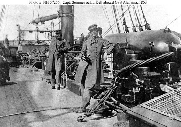 Captain Raphael Semmes photographed on board the Alabama in 1863