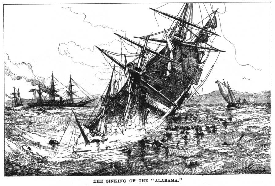 The Alabama sank in 200 feet of water