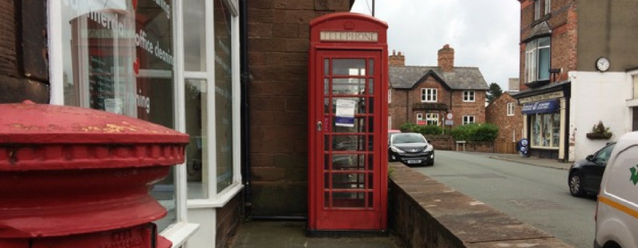 Red letter day for Lower Heswall red telephone box