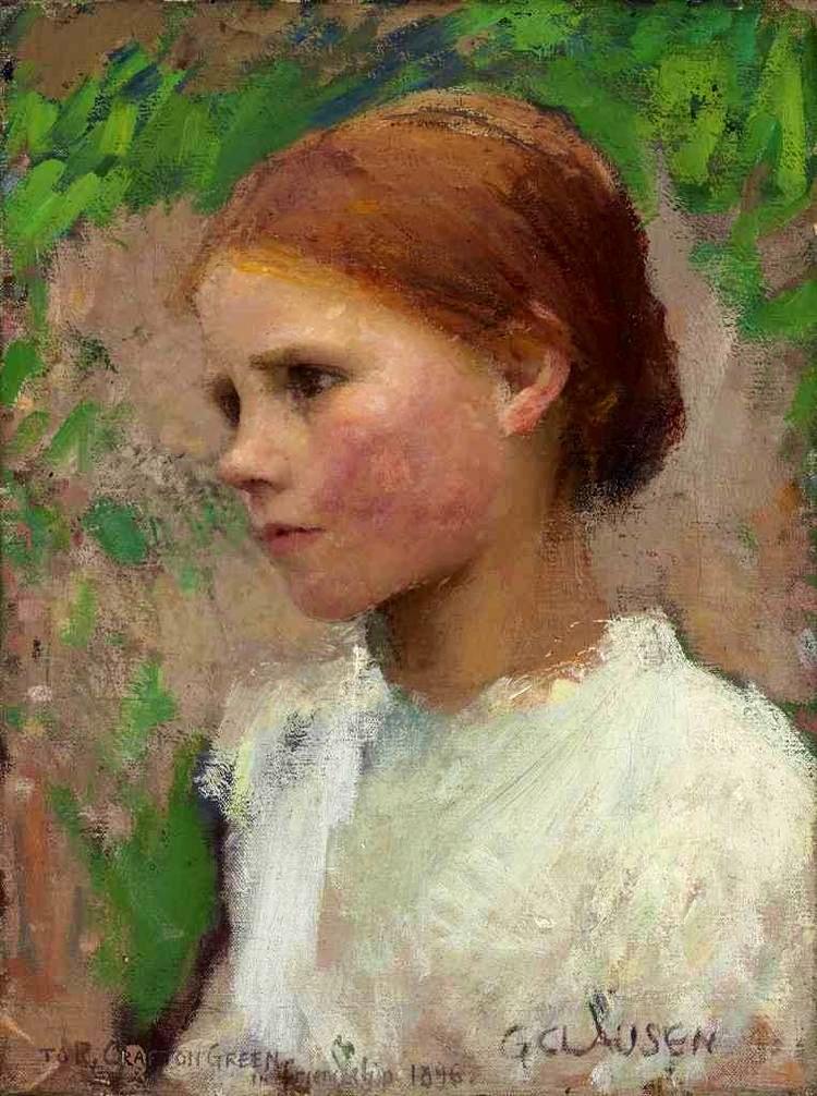 A Village Girl by Sir George Clausen