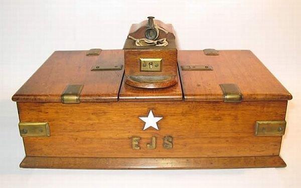 Cigar box that once belonged to Edward John Smith, master of Titanic
