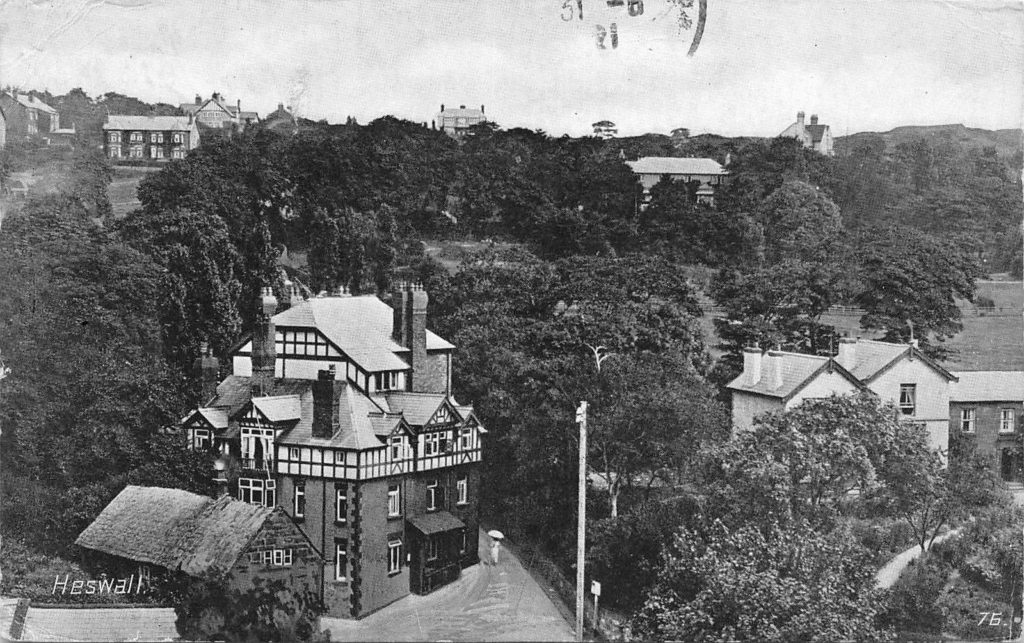 The Black Horse was built in 1836 and was formerly the Heswall Hotel. This picture dates from 1921.