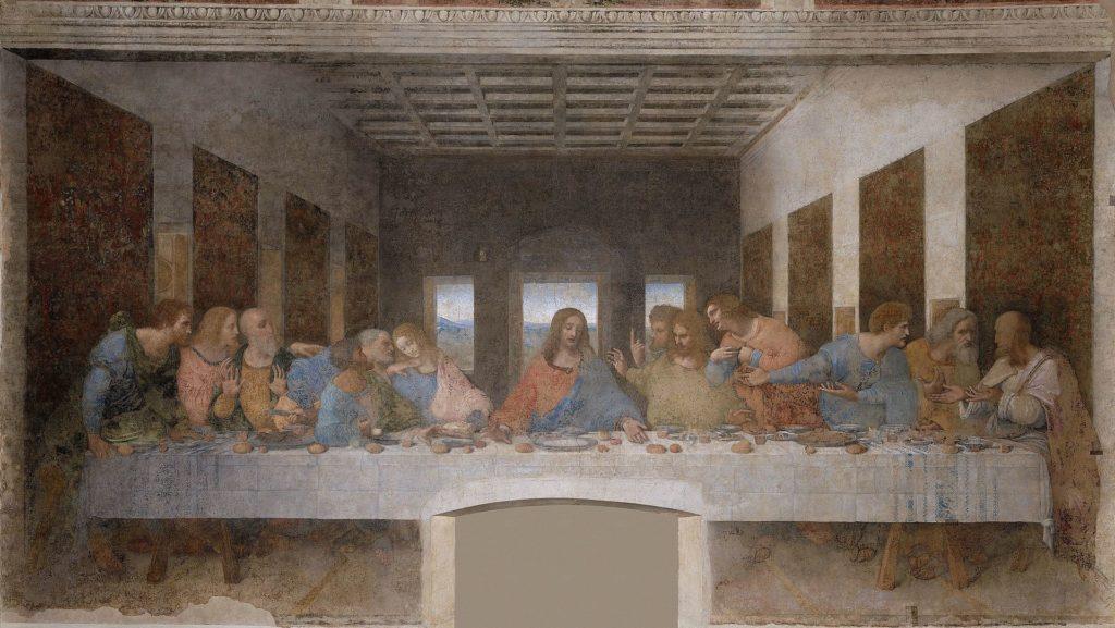 The Last Supper as imagined by Leonardo Da Vinci