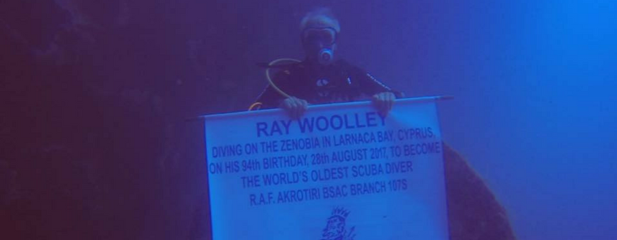 Underwater great grandpa attempts dive into record books
