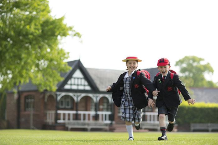 Pupils at Birkenhead School