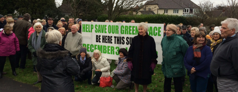Protest against Heswall land sale attracts hundreds