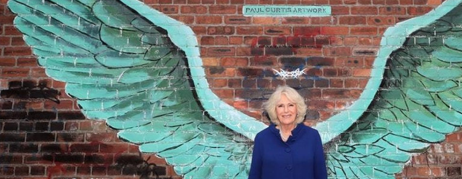 The man who gave Camilla wings creates mural at Thornton Hall Hotel